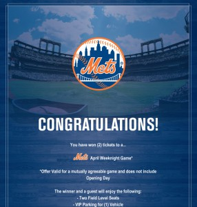 Win these NY Mets Tickets