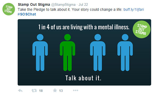 A screenshot from the Stamp Out Stigma (SOS) Twitter Chat