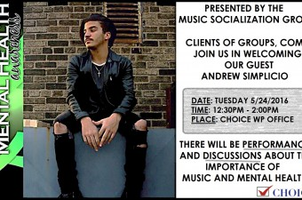 Andrew Simplicio To Perform for CHOICE Music Group on May 24th